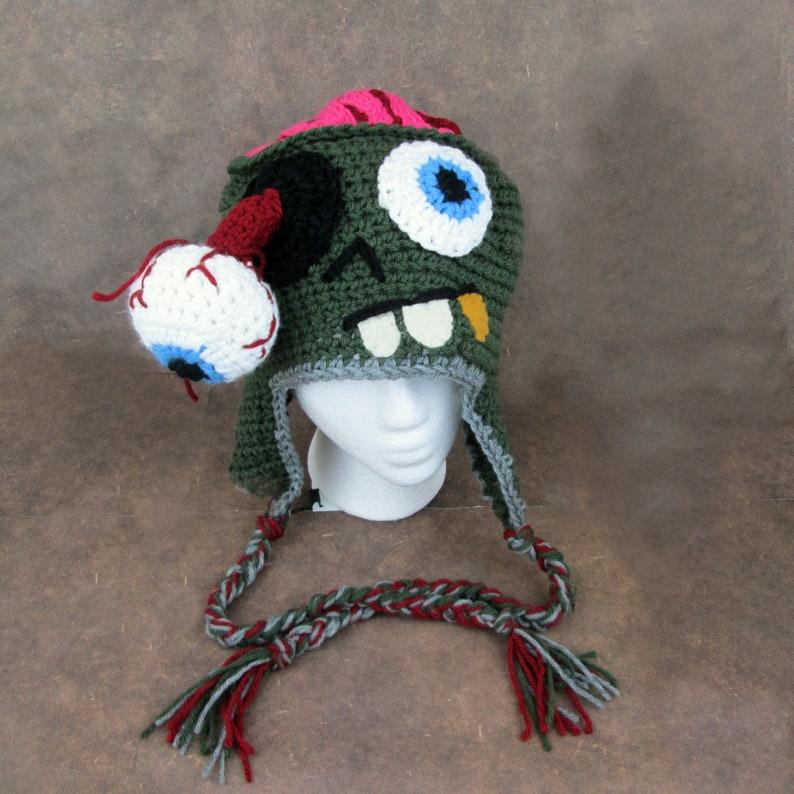 Zombie Crochet Character hat halloween gift unique crochet image 0