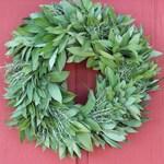 Bay Leaf Wreath with Rosemary