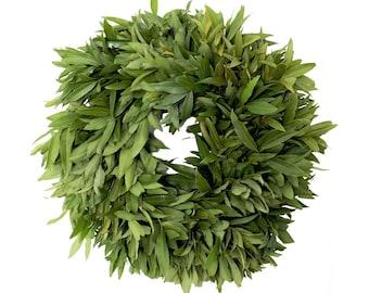 Fresh Bay Leaf Wreath- Original 16''