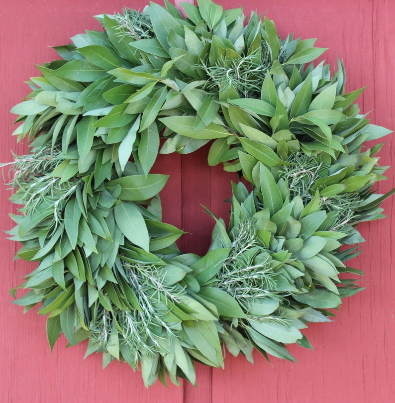 Bay Leaf Wreath with Rosemary image 0