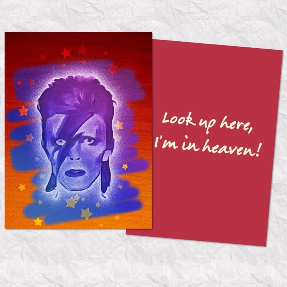 Greeting cards greetings from the north david bowie song lyric card m4hsunfo
