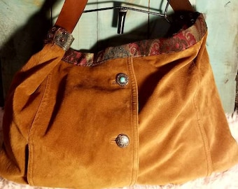 Suede Crossbody/Shoulder Hobo Handbag