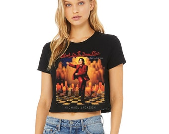 0ea1f07f9c7 Michael Jackson Blood On The Dance Floor Women's Flowy Cropped Shirt