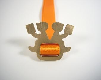 orange bookmark - LESEPAUSE