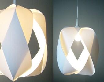 White pendant lamp KARO DAME