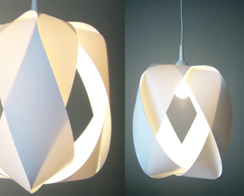 White pendant lamp KARO DAME image 0