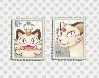 Glameow  Pokemon Go Pokemon Waterproof Self Adhesive Vinyl Sticker