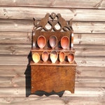 18th century style welsh Lovebird spoon rack made from reclaimed recycled Oak