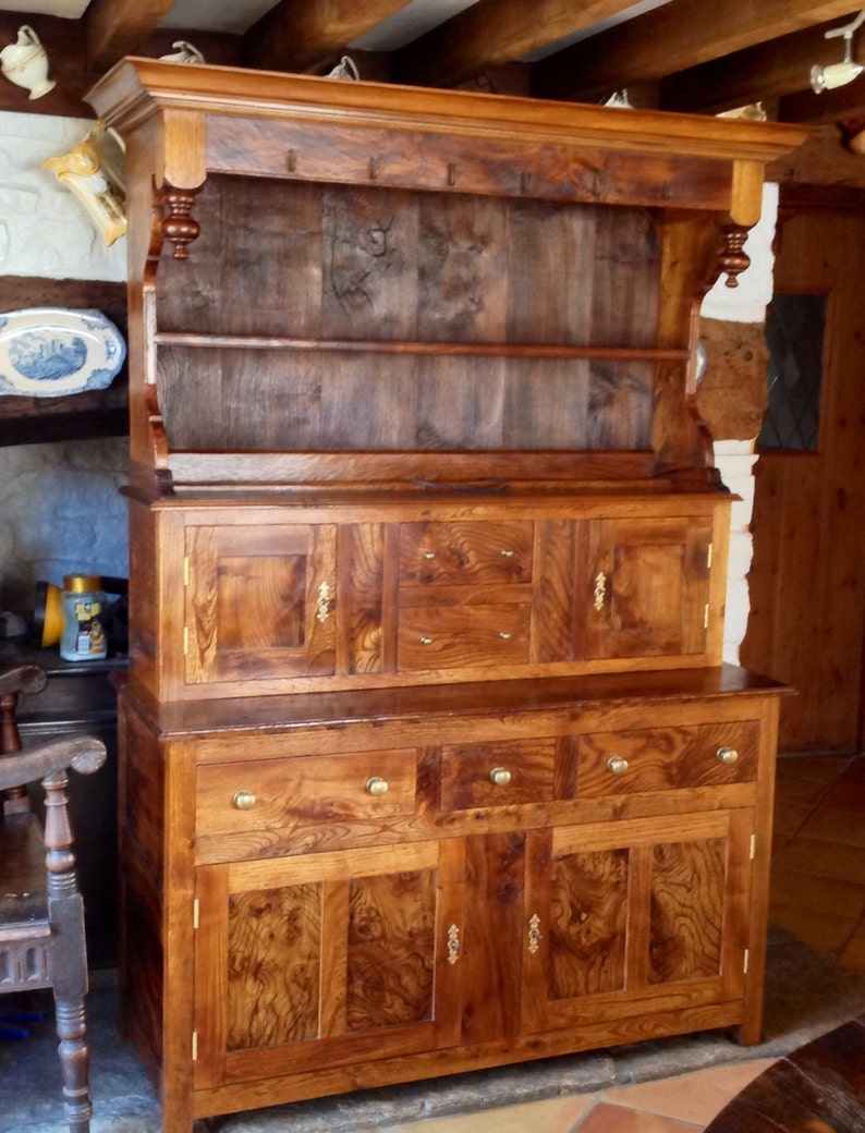 Antique style canopy top dresser made using reclaimed recycled image 0