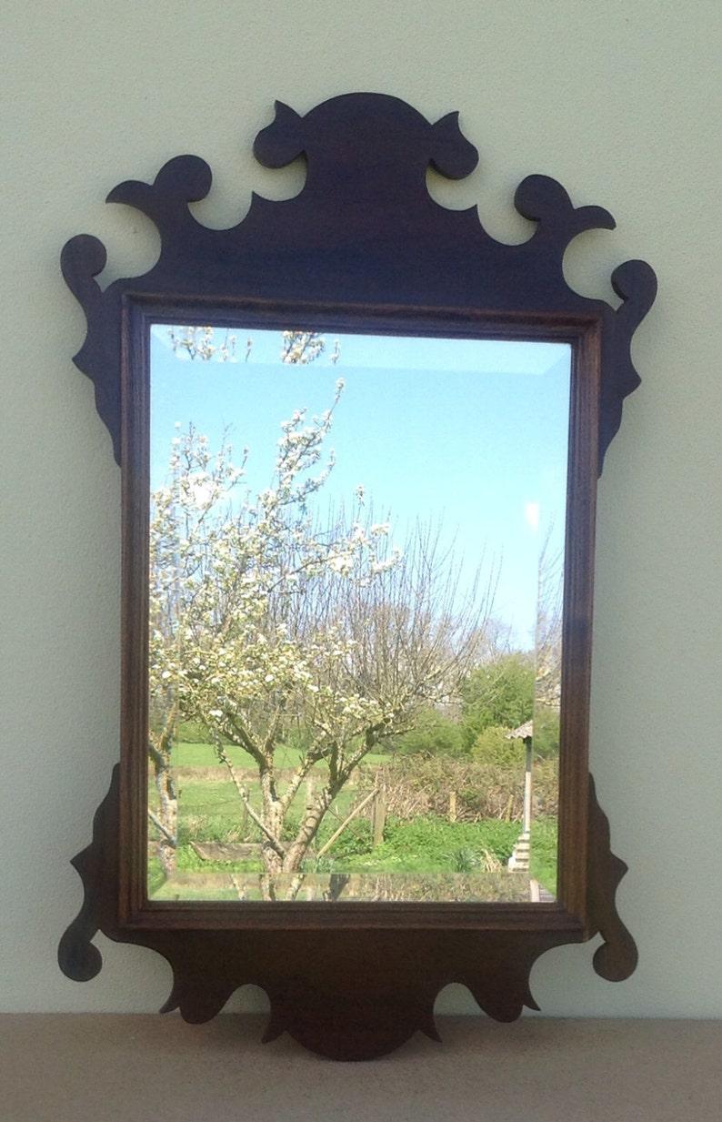 Midd 18th century style American silhouette mirror in laburnum image 0