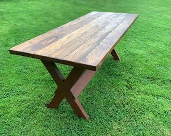 Primitive Sawbuck dining table