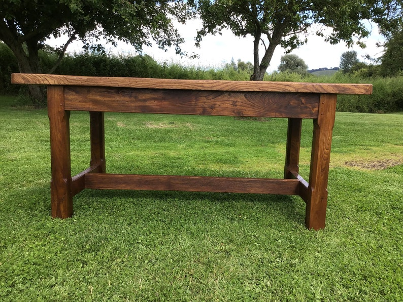 Elm country plank top table. image 0