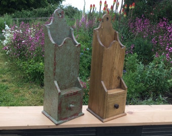 18/19th century style wall boxes made from reclaimed old pine.