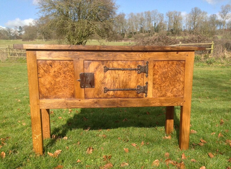 Oak Medieval / Tudor style Hutch Table image 0