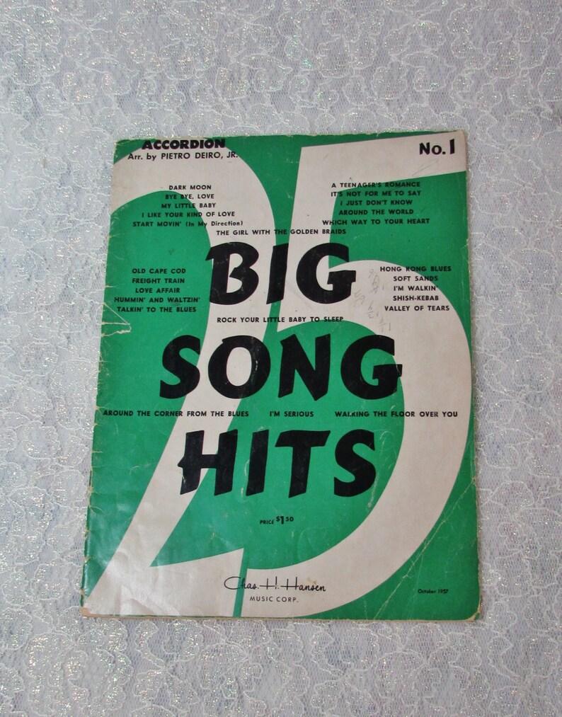 Song Hits Sheet Music 1957, No  1 Vintage, Accordion Sheet Music, Hit Music