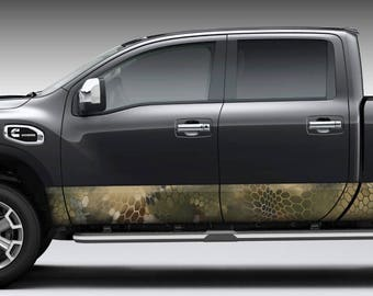 """Hex 2 Grey CAMO DECAL 3M WRAP VINYL 52/""""x15/"""" TRUCK PRINT REAL CAMOUFLAGE"""