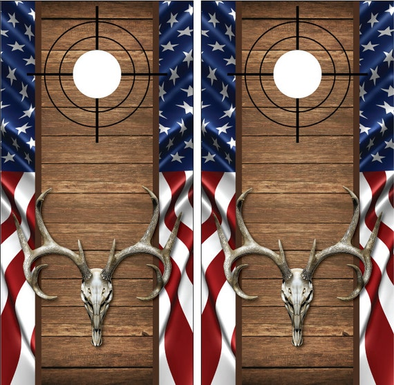 Wyoming State Flag Distressed Wood Vintage Cornhole Board Decal Wrap Wraps