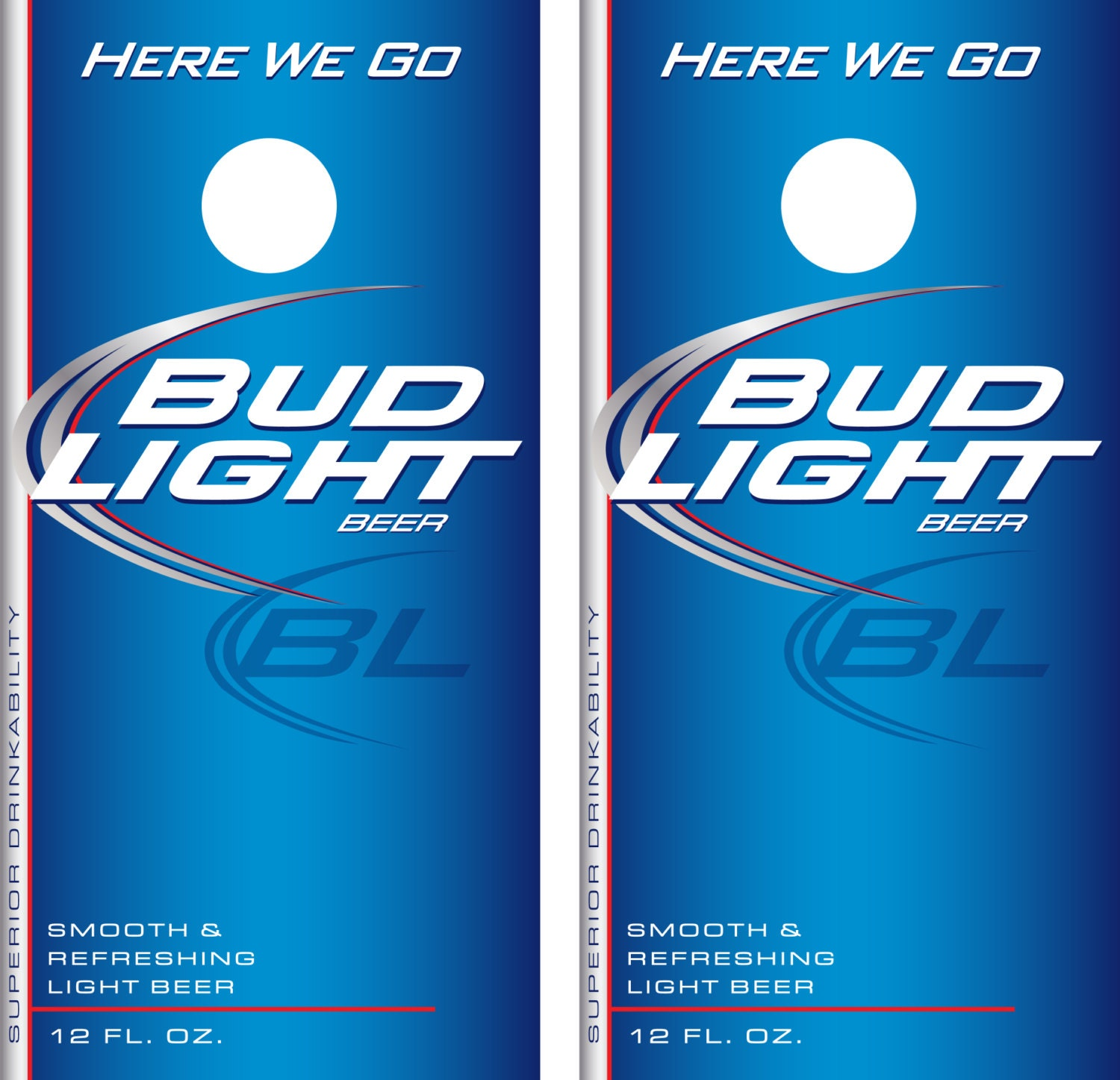 Bud Light Beer Label Cornhole Decal Wrap Etsy