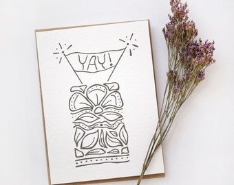 Wedding Card, Engagement Card, Birthday Card, Floral Card, Celebration Card, Yay Card