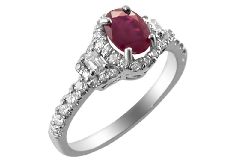9ac8ef87c6dd Ruby diamante anillo oro anillo de rojo rubí. Gevani joyería.