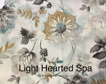 Free ship! Fabric by the yard - Light Hearted Spa