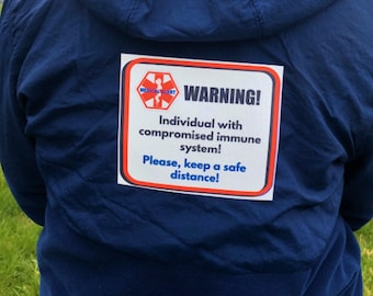 Compromised Immunity- Fabric Safety Patches - Re-usable - Soft Polyester Fabric