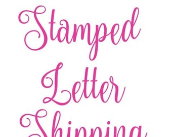 Stamped Letter Shipping