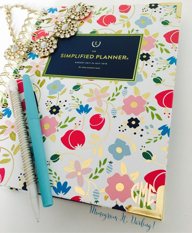 photograph about Simplified Planner identify Simplified Planner Circle Monogram Decal Sticker Weekly Simplified Planner Monogram Every day Simplified Planner Monogram Gold Foil Decal