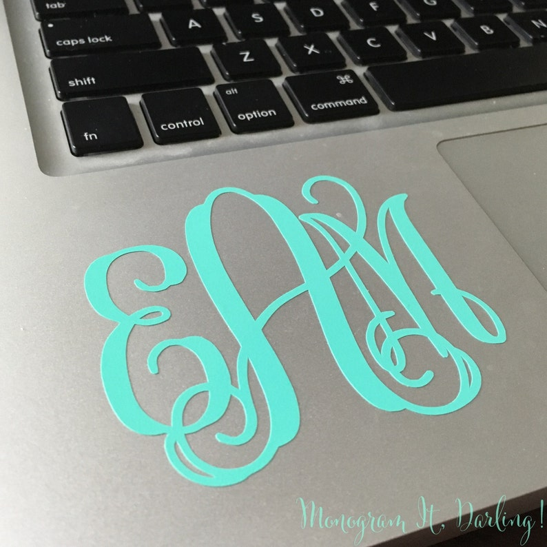 Monogram Sticker Decal  many styles colors and uses image 1