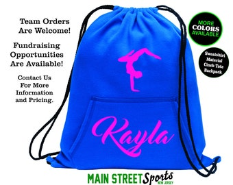 28f26b2c07a7 GYMNASTICS BAG with Name. Gymnastics Tote. Gymnastics Cinch Bag. Gymnast Bag.  Gymnastics Backpack. Gymnast Tote. Sports Bag. Dance Tote.