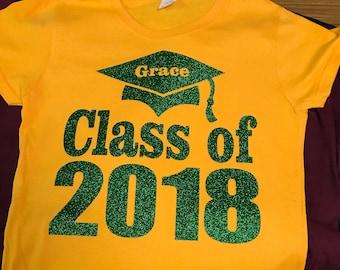 CLASS OF 2018 Shirt. Graduation Shirt. Graduation Tshirt. Class of 2018 t-shirt. Senior shirt. Grad Shirt. Graduate Shirt. Grad Tshirt.