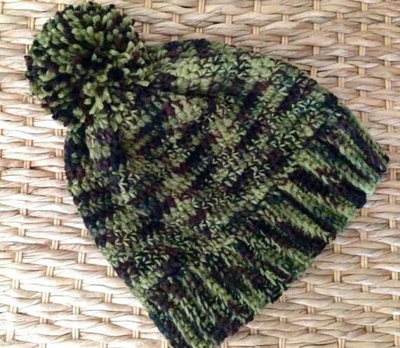 Crochet Camo Hat  80b85b8561d