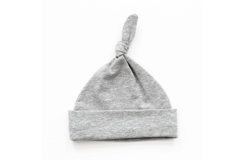 bada7ea2daf9 Plain marl grey knot hat handmade cute knot hat made using