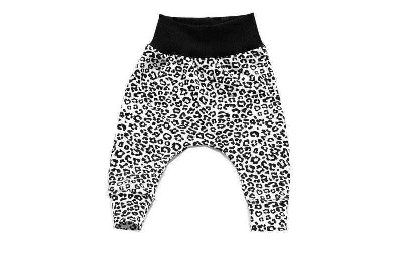 6538ea07938e0 Leopard print leggings animal white with black rib knit   Etsy