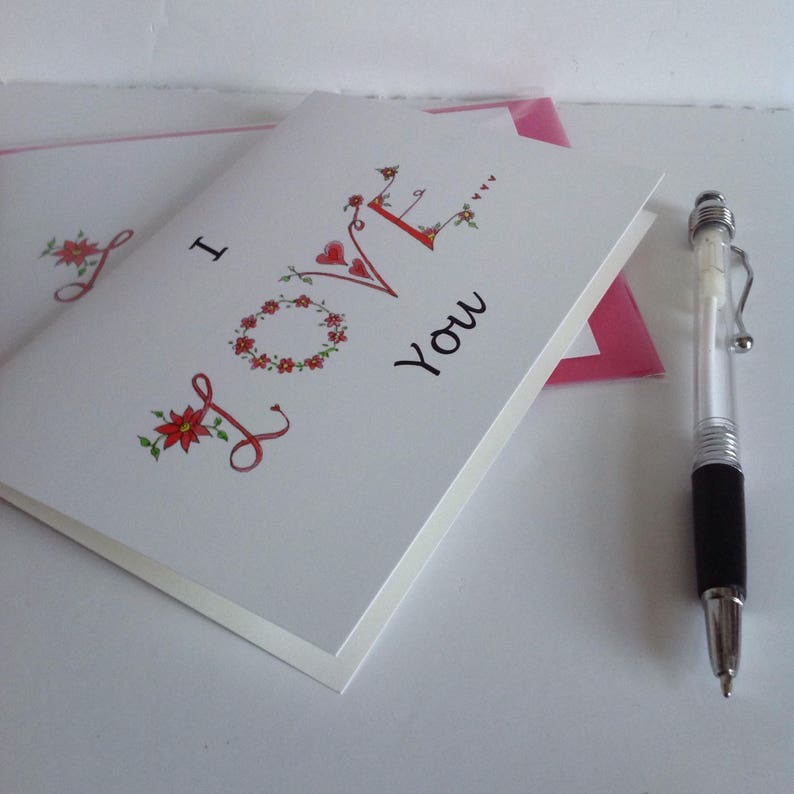 Love Card,I Love You Card,Valentine/'s Card Anniversary Card