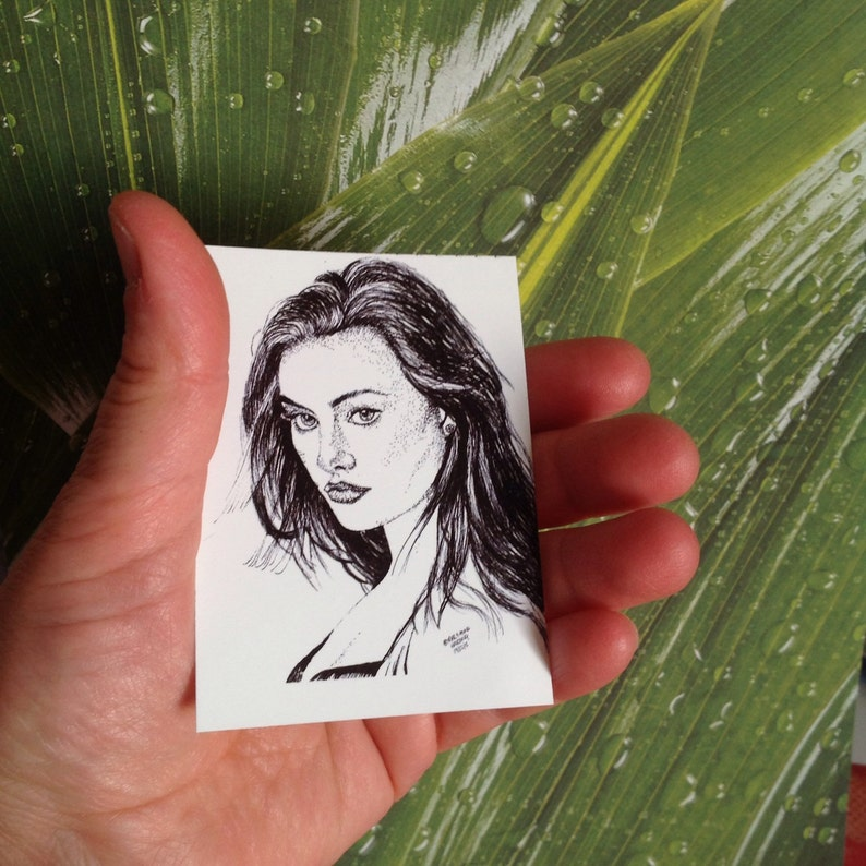 Little Wolf ACEO Hayley Portrait sketch The Originals Drawing Print of Hayley The Originals ACEO Print,Drawing print of Phoebe Tonkin