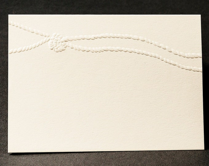 8 Tied the Knot Cards.Bridesmaid proposal card. Bridal party cards. Set of 8 cards. Blank inside.