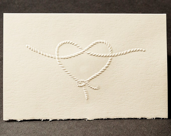 8 Heart Knot Cards.Bridesmaid proposal card.Tied the Knot Card Set of 8 cards. Blank inside.