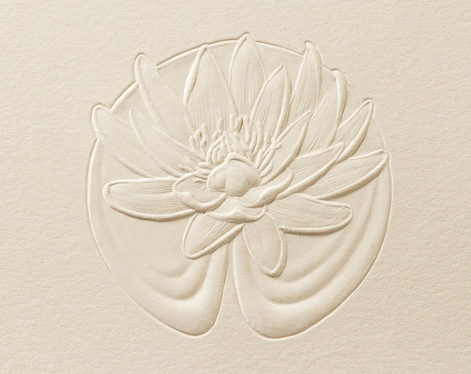 8 Water Lily Cards.Mothers Day Gift. Floral cards.Lotus card.Blank inside.