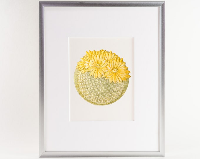 Cactus print.Floral Wall Decor.Desert Wall Art 8x10 Print.A4 Print.Ready to frame.Print with a mat.