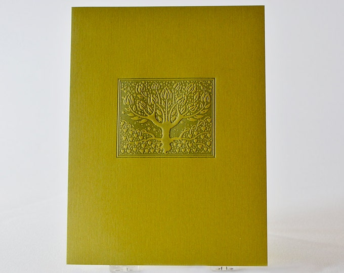 Letterpress Love Tree Card. Love Card. Green Card. Notecard. Valentine. Anniversary card. Single Card. Blank Inside