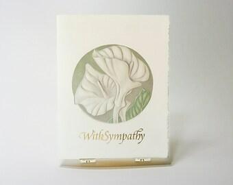 60/% off Lily Heart SALE Sympathy letterpress card