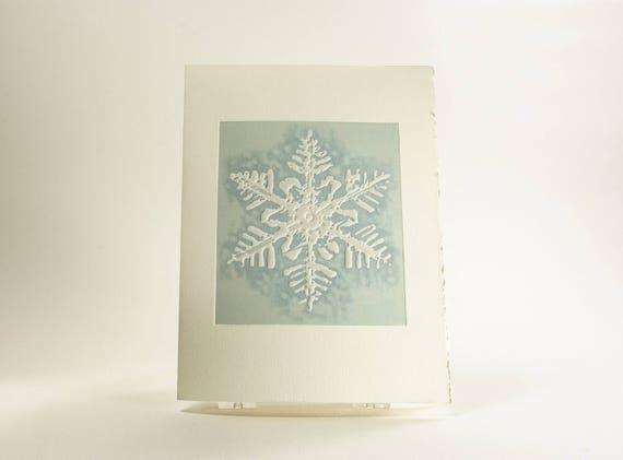 Snow Flake Letterpress Holiday Thank You Greeting Card Box Set