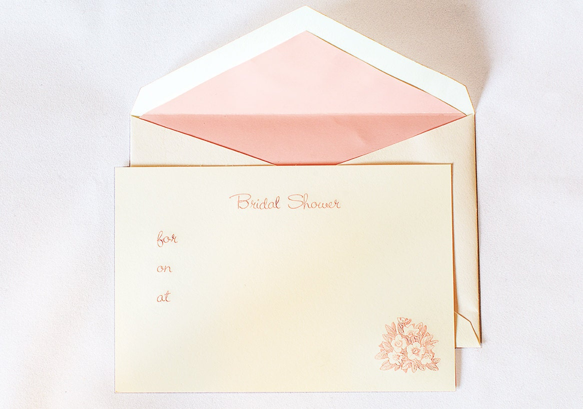 8 Pink Bridal Shower Invitations Fill In The Blank Wedding Card Set Of Cards