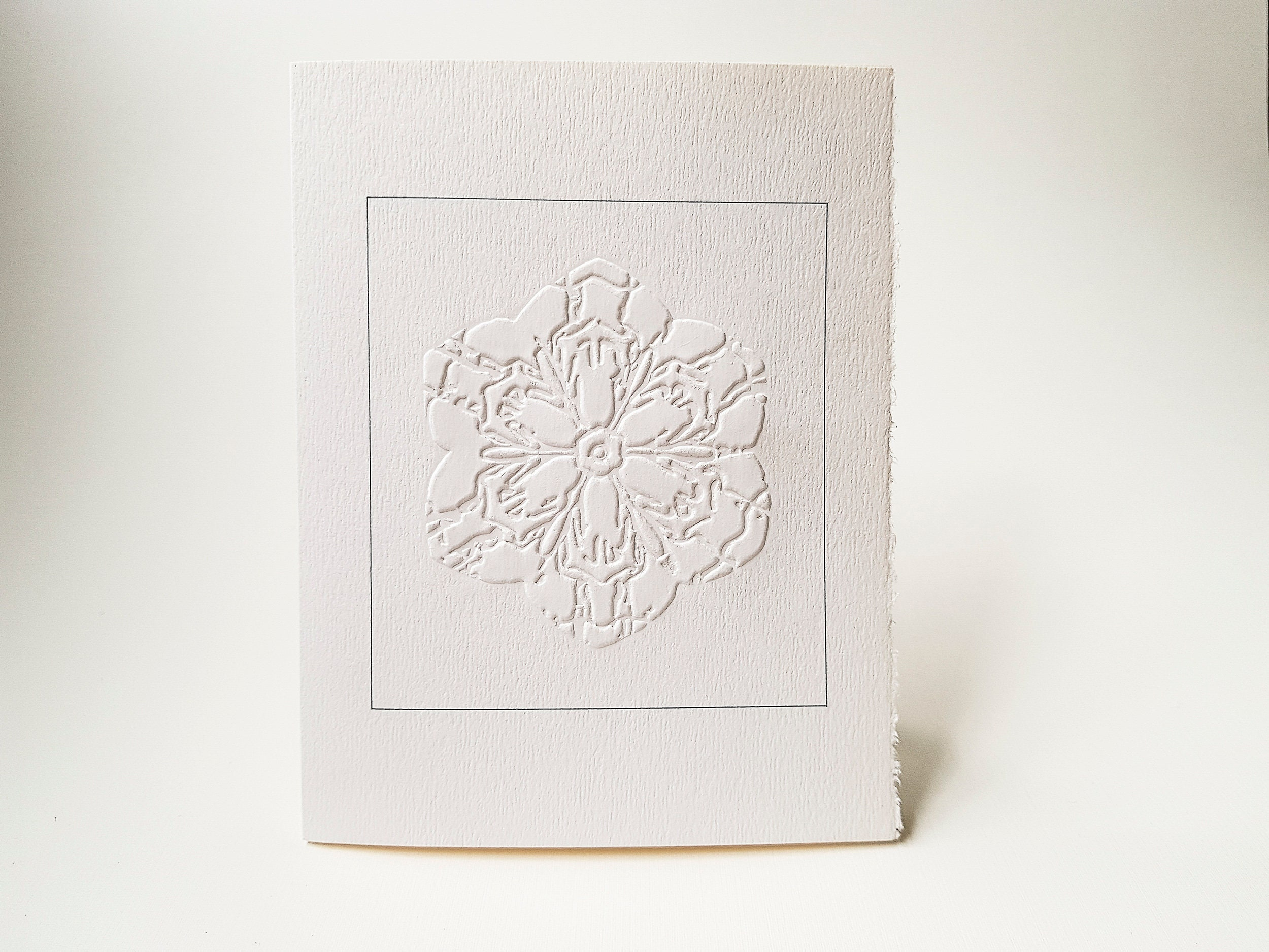 6 Snowflake Embossed Cards Christmas card set Letterpress notecard ...