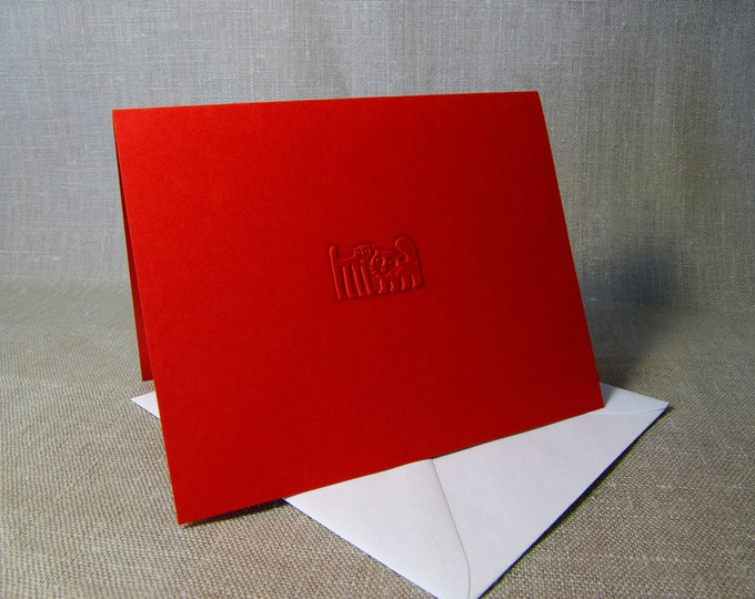 Cute Cats Card. Valentine card Love card Cat card Engagement card Blank inside. Single card