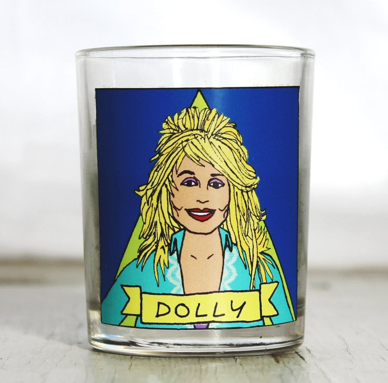 Dolly Parton Glass Votive Candle //  LGBTQ Altar Candle image 0