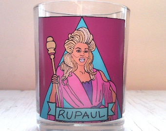 RuPaul Glass Votive Candle // LGBTQ Altar Candle
