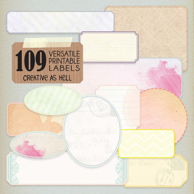 picture relating to Printable Labels Sheets known as 109 Printable Labels - A Label of Delight in - Label Sheets, Artwork Journaling, Electronic Sbooking, Collage Sheets, Present Tags