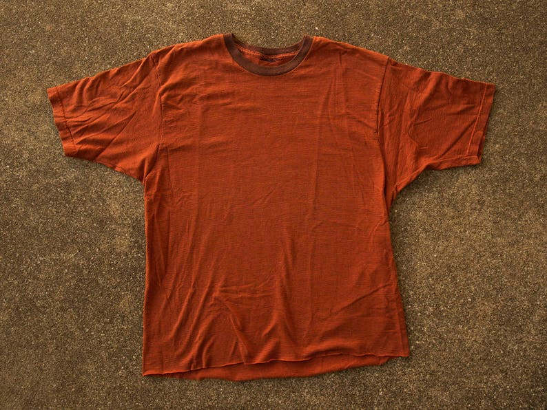 7c5bc827d9372c 90s Striped Shirt XL Vintage Orange Striped T-shirt Extra | Etsy